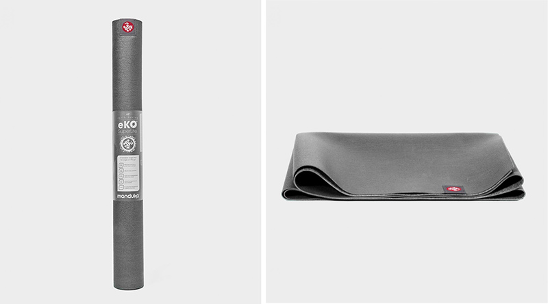 eko® superlite travel yoga mat 1.5mm charcoal (gray)